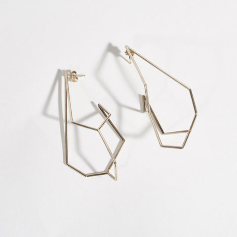 Acicular Dangling Sterling Silver Earrings
