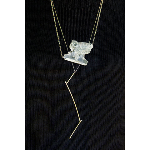 Clear Perspex Necklace - Jagged Edge