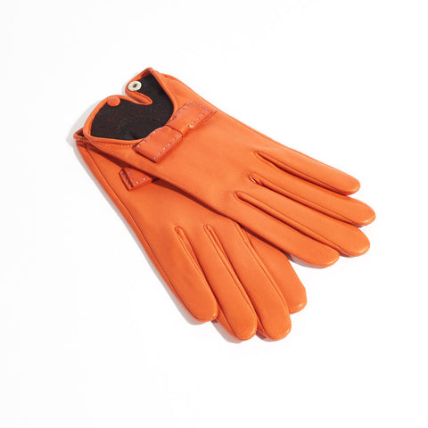 Josie Leather Gloves - Mango