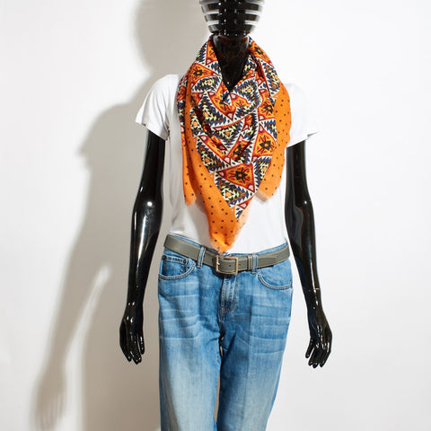 Wool Scarf - Aztec Orange