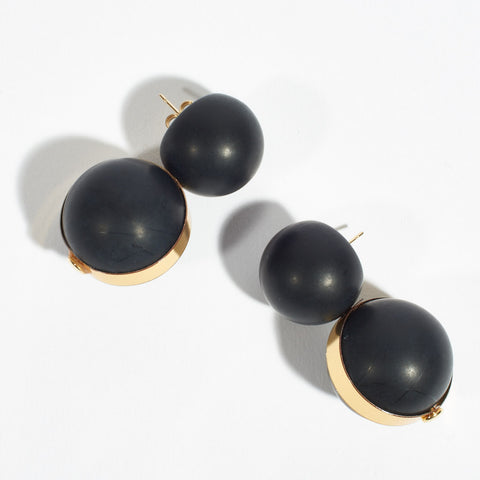 Stacked Globe Earrings