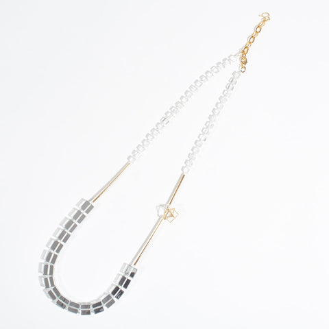 "Long Necklace ""Stephanie"" - Clear Acrylic"