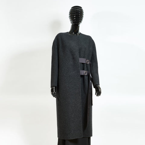 Charcoal Grey Wool Coat