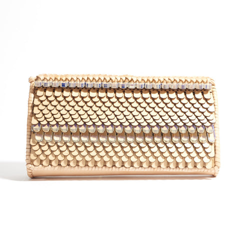 Birch Wood and Leather Clutch