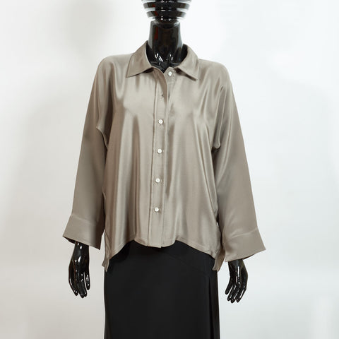 Silk Blouse - Pewter