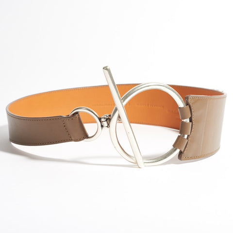 T-Bar Leather Belt - Tan
