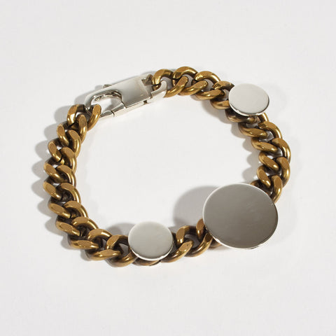 Sterling Silver and Brass Chain Bracelet
