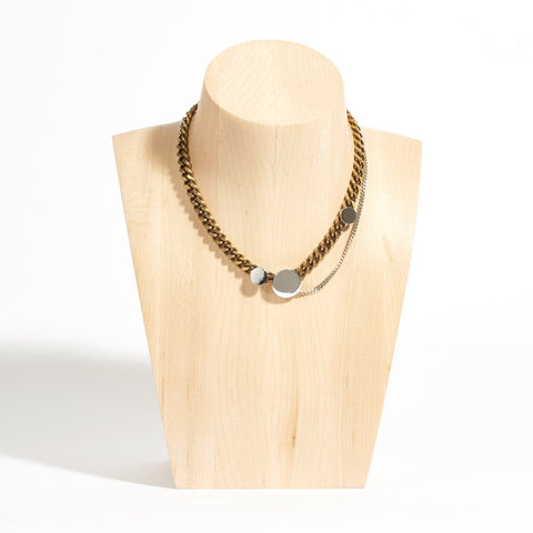 Sterling Silver and Brass Chain Necklace