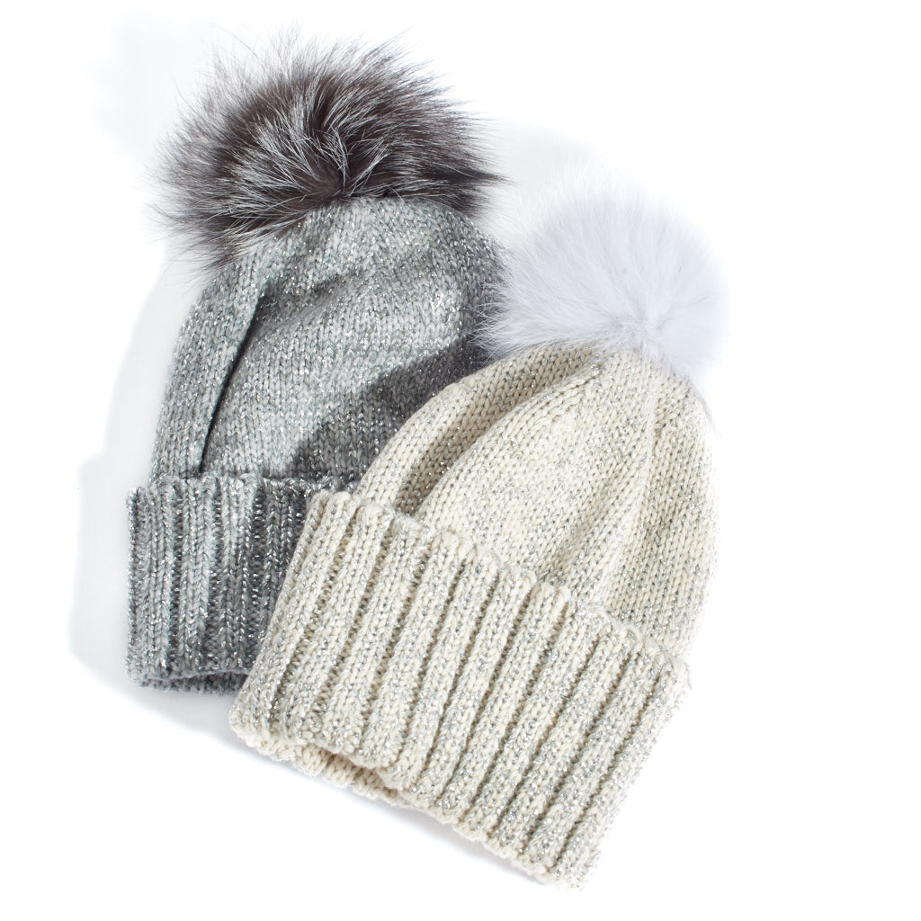 2aacfa188c3c5 Home › Sparkly Beanie Hat. Double tap to zoom