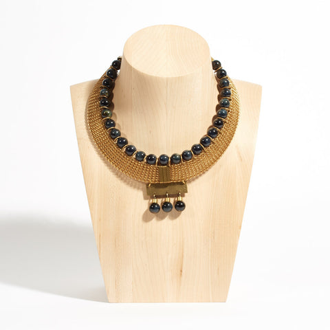 Kenzie Blue Tiger Eye Necklace