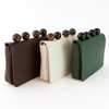 Pebble Leather Clutch - Brown