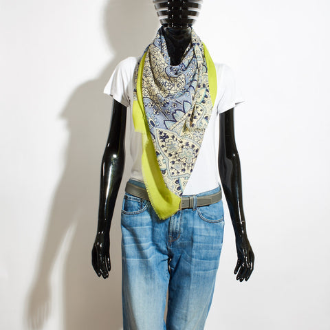 Wool Scarf - China Blue