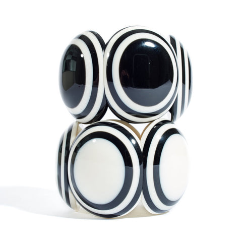 Black and White Resin Cuff