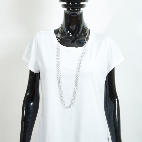 Mid Length Silver Chain Necklace - Medium Links