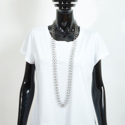 Long Silver Chain Necklace - XL links