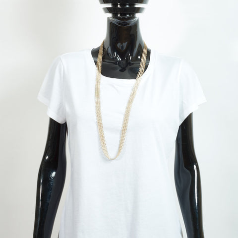 Mid Length Gold Chain Necklace - Small Links