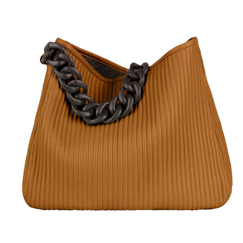 "Leather Handbag ""Roberta"" - Caramel"