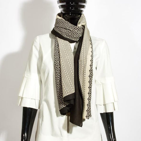 Nadia Silk and Cashmere Scarf