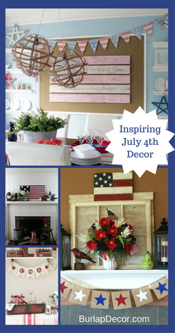 July 4th Mantel Decor Inspiration