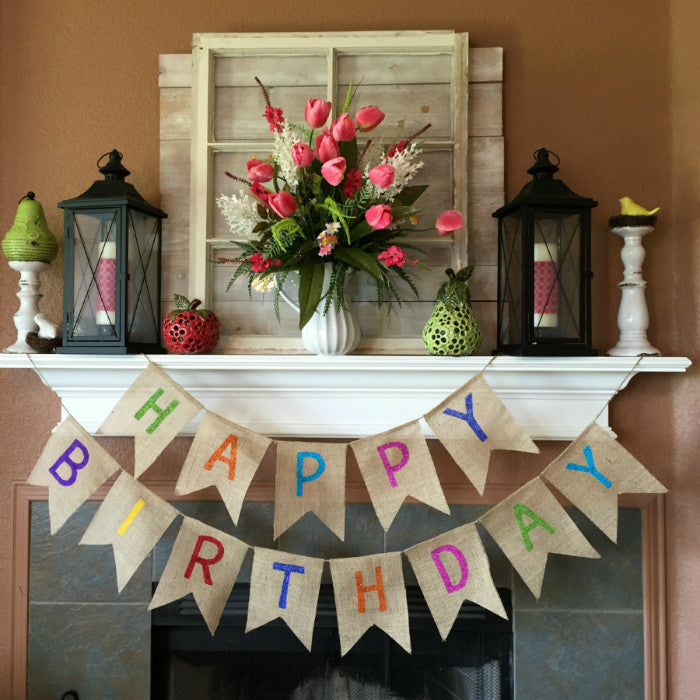 Burlap Banners - a Stress Free Answer for Beautiful and Easy Party Decor