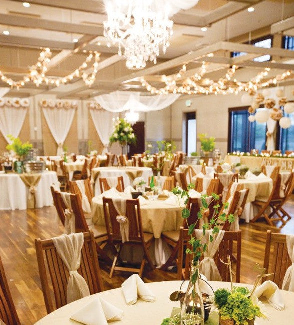 Burlap Wedding Backdrop Ideas