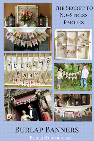 Stress-Free Decorating with Burlap Banners
