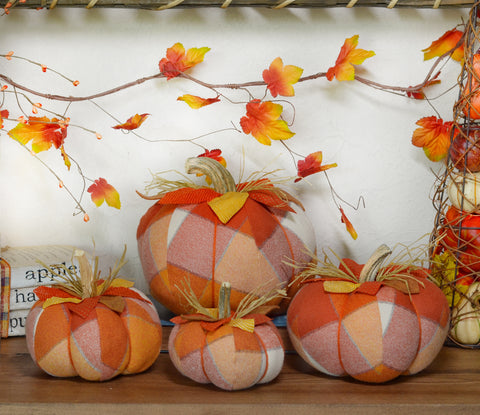 Orange Plaid Pumpkins