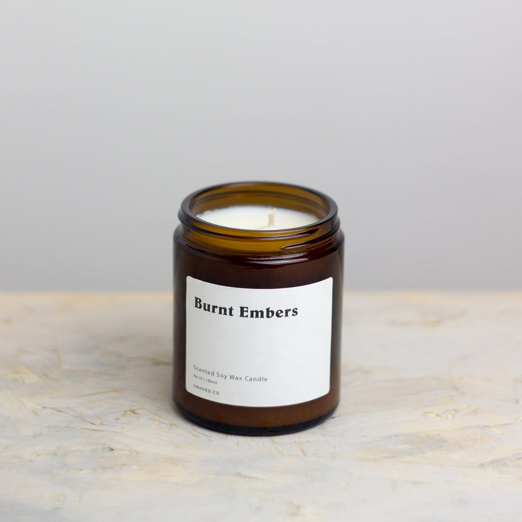 Burnt Embers - 180ml Soy Wax Candle