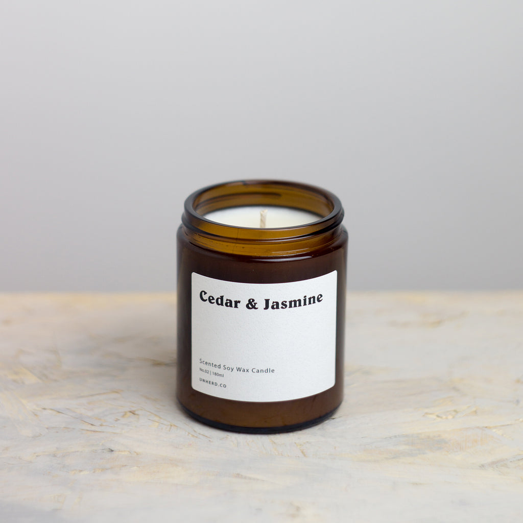 Cedar & Jasmine - 180ml Soy Wax Candle