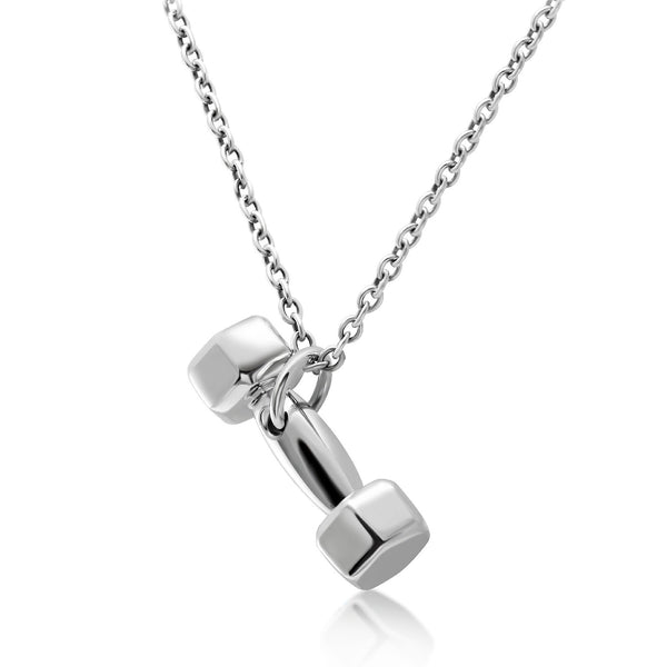 Dumbbell Charm With Silver Chain