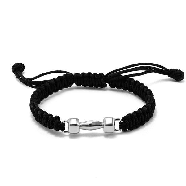 Classic Rope Bracelet With Dumbbell Charm