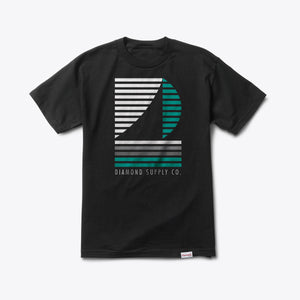 Diamond Supply Company Stripe Boat Tee