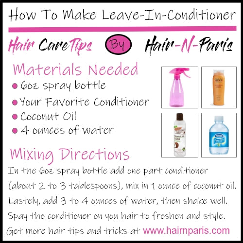 DIY Leave-In-Conditioner To Help Maintain Your Sew-in's Freshness