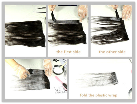 Diy extension dying at home hair n paris if i can learn to do it myself then im all in below are six very easy steps to dying your hair weave at home solutioingenieria Images