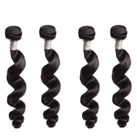Hair-N-Paris Premium Loose Wave 4 Bundle Set