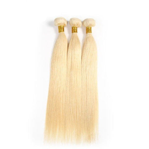 Hair-N-Paris blonde straight bundle set