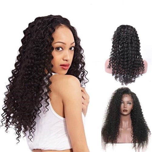 Hair-N-Paris Premium Deep Wave Full Lace Human Hair Wig