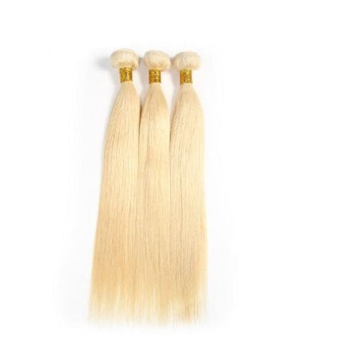 Hair-N-Paris Premium Russian Blonde Straight Mixed 3 Bundle Set