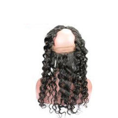 Hair-N-Paris Premium Single 360 Lace Frontal Deep Wave