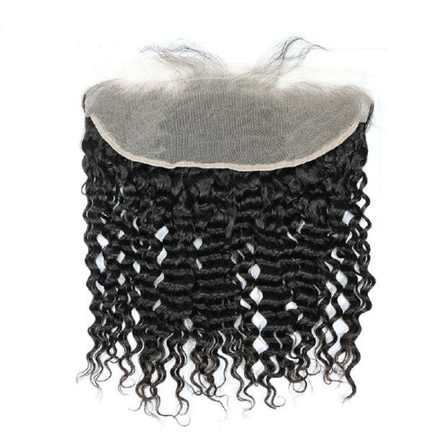 Hair-N-Paris Premium Illusion Single Full Lace Deep Wave Frontal back