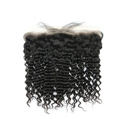 Hair-N-Paris Premium Illusion Single Full Lace Deep Wave Frontal front