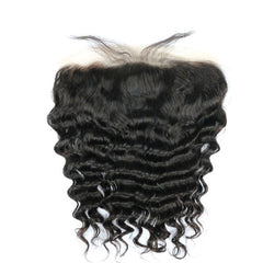 Hair-N-Paris Premium Illusion Single Full Lace Loose Wave Frontal front