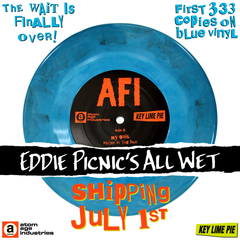 "AFI: EDDIE PICNIC'S ALL WET LIMITED EDITION 7"" SINGLE RE-ISSUE ***NOW SHIPPING!***"