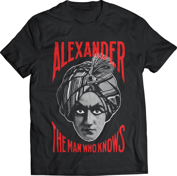 "ATOM AGE: ""ALEXANDER - THE MAN WHO KNOWS"" T-SHIRT"