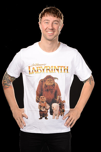 "LABYRINTH ""LUDO & FRIENDS"" WHITE T-SHIRT"