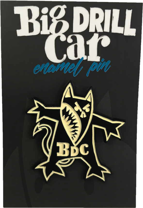 "BIG DRILL CAR: ""DOG"" ENAMEL PIN"