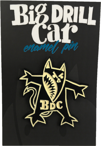 "BIG DRILL CAR ""DOG"" ENAMEL PIN"