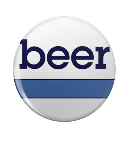 "REPO MAN: ""BEER"" GENERIC BUTTON"
