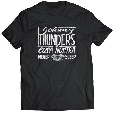 "JOHNNY THUNDERS ""COZA NOSTRA"" T-SHIRT"