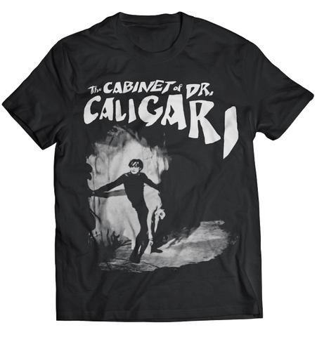 ATOM AGE:  THE CABINET OF DR. CALAGARI BLACK T-SHIRT